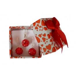 Červená dárková krabička na šperky - 40x40x32 mm - Holly Šperky a0e2a05c0ef