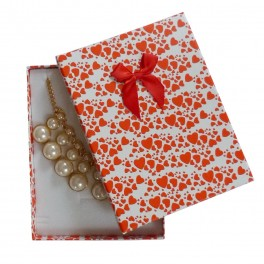 Červená dárková krabička na šperky - 152 x 116 x 28 mm - Holly Šperky 52f406b9899